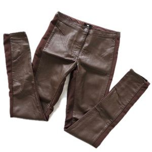 [H&M] Faux Brown Leather Pants